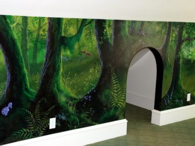 enchanted forest playroom mural ideas projects to try pinterest