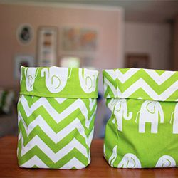 simple and cute sewing project.  A great way to organize toys, crafts or any other junk around the house