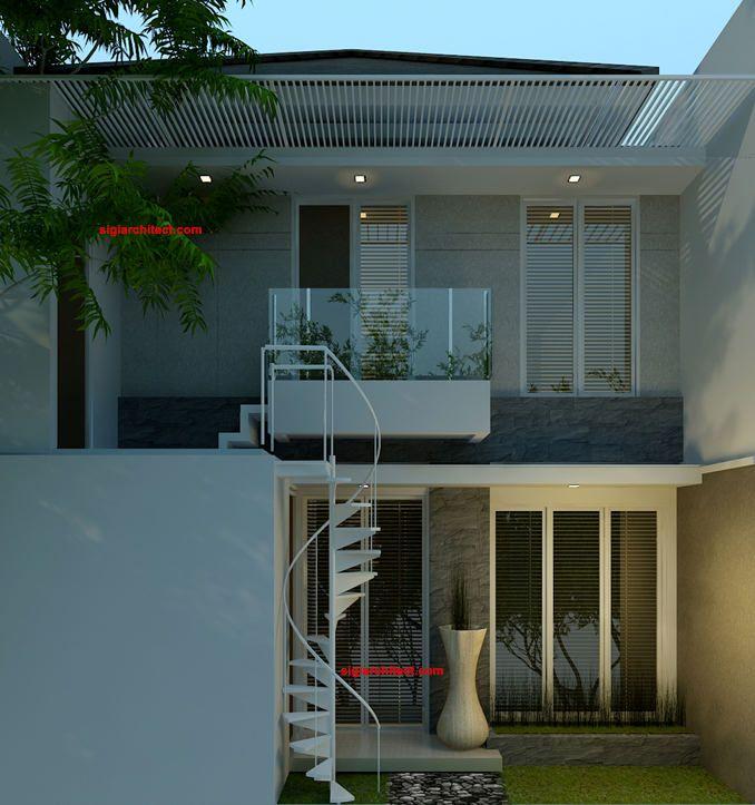 denah rumah minimalis model rumah 2  lantai 2