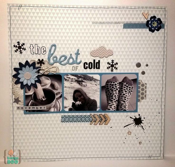 LO Lo mejor del frío por Bangaboo Scrap #scrapbooking #challenge #madscraproject #layout