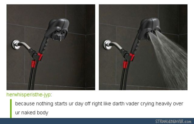 "And the way you start the water is with a voice command: ""It seems that in your anger you have killed her."" WHOOSH!!!!"