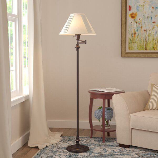 Herrington 59 Swing Arm Floor Lamp In 2020 Swing Arm Floor Lamp Floor Lamp Traditional Floor Lamps