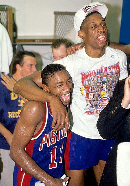 Isiah Thomas & Dennis Rodman circa 1989