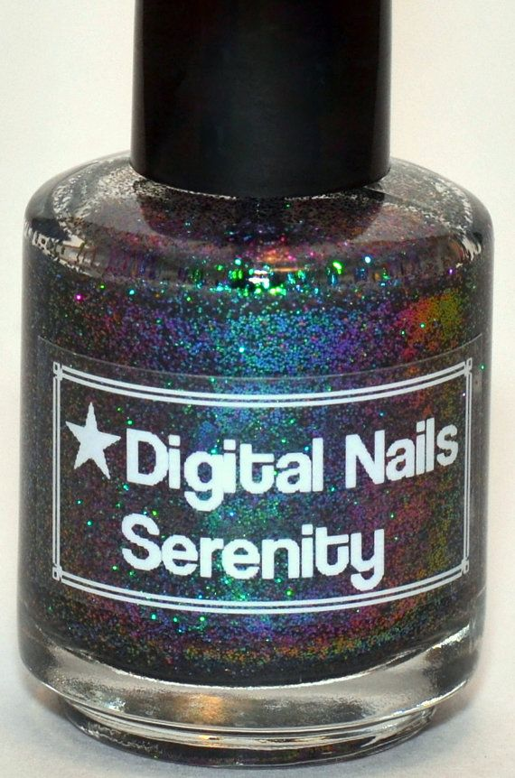 Serenity: A Multicolored shifting glitter nail lacquer by Digital Nails by DigitalNails