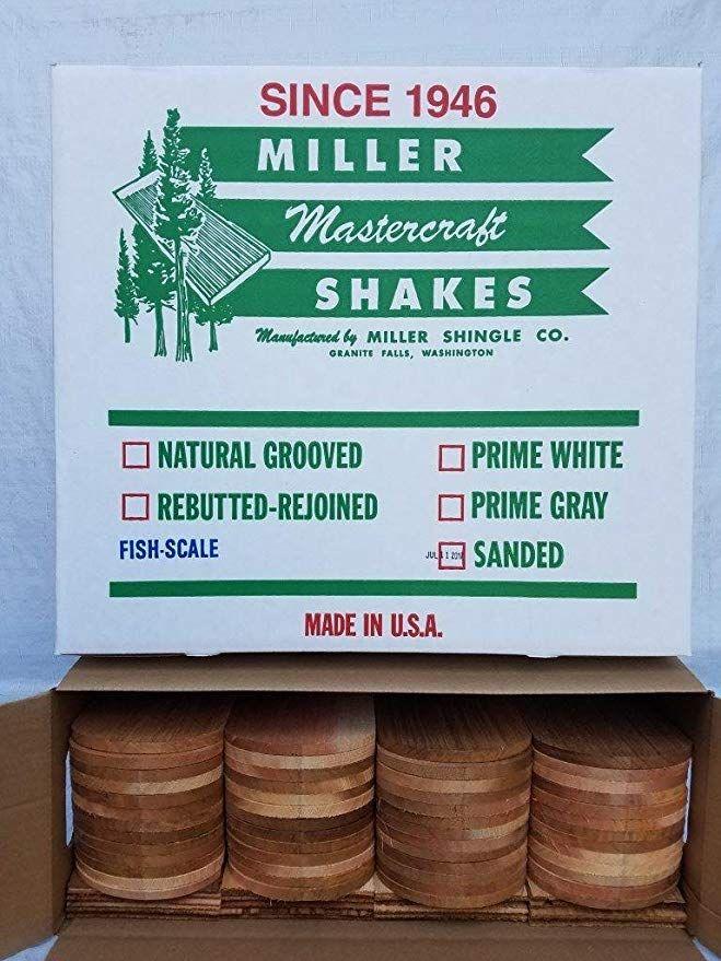Miller Mastercut Fish Scale Decorative Cedar Shingles 104 Pieces Amazon Com Shingling Cedar Shingles Fish Scales