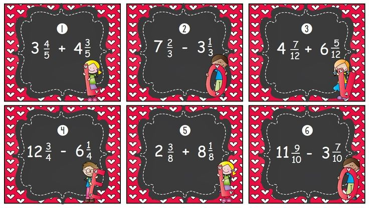 Mixed Numbers Operations Task Card Freebie