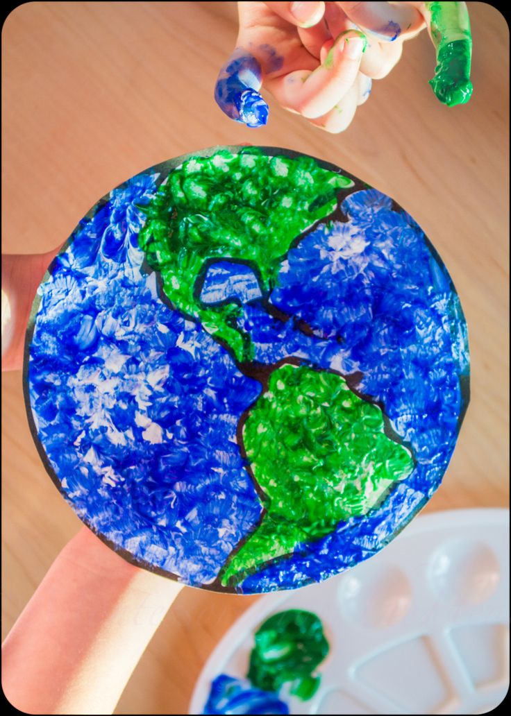 Finger Paint, Finger Paint Earth, Earth day, kids activities, kids craft, Eart…  – Arts/Crafts