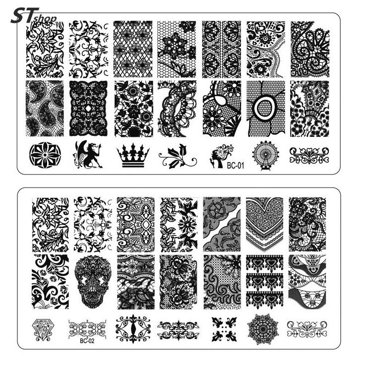 Buy 1pcs NEW Lace Flowers Nail Art Stamp Stamping Image Plate 6*12cm Stainless Steel Template Polish Manicure Stencil Tools BC01-20 at JacLauren.com