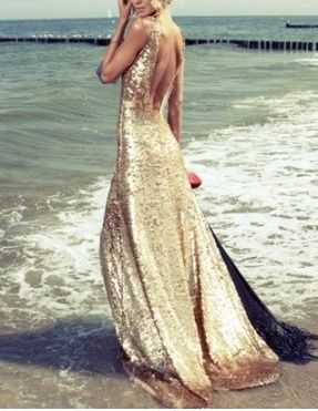 Beach Glam Glitter Gown