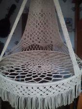 Macrame hanging chair hammock handmade