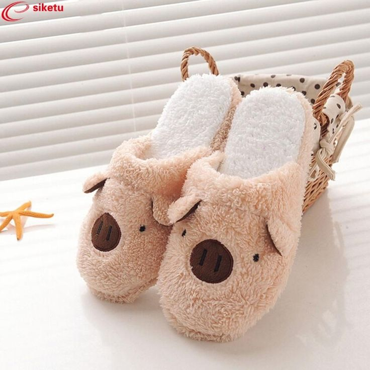 3.75$  Watch now - siketu Best Gift Lovely Pig Home Floor Soft Stripe Slippers Female Shoes Drop Shipping Dec26   #buyonline