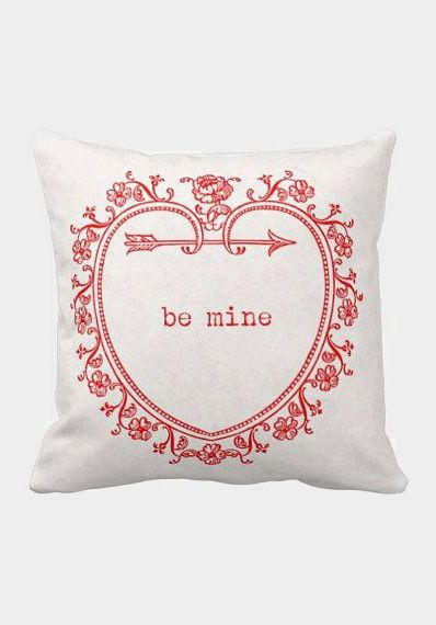 Pillow Cover Be Mine Valentine's Day Red Heart