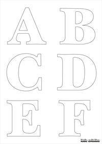 Molde de letras para imprimir alfabeto completo fonte vazada   Ideia Criativa - Gi Barbosa Educação Infantil