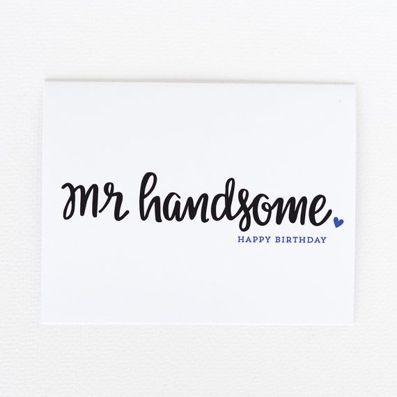 Happy Birthday Handsome Husband Birthday Card by littleprintdesign
