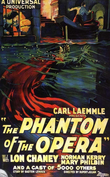 One of the greatest silent films, and also the one that put Universal on the map.  Back in the day before digital effects, they built everything from the ground up.  Also, Lon Chaney's performance as the Phantom is truly one of the greats of the silent era.