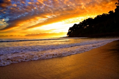 Beautiful Sunshine Coast sunset living up to it's name! Would love to watch the sun go down here. #airnzsunshine