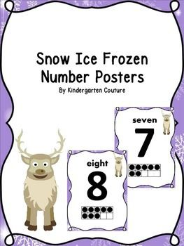 There are 11 number posters to go along with my Snow Ice Frozen Theme.  These posters all have the number, number word, ten frame and cute deer.  See preview.Snow Ice Frozen Desk platesSnow Ice Frozen Classroom RulesSnow Ice Frozen Number PostersSnow Ice Frozen Word Wall LettersSnow Ice Frozen Word Wall WordsSnow Ice Frozen Count The Room Ten Frames 1-10 and 11-20Snow Ice Frozen Measure The RoomCute clip art by REVIDEVI http://www.teacherspayteachers.com/Store/Revidevi  Key Words:  numbers…