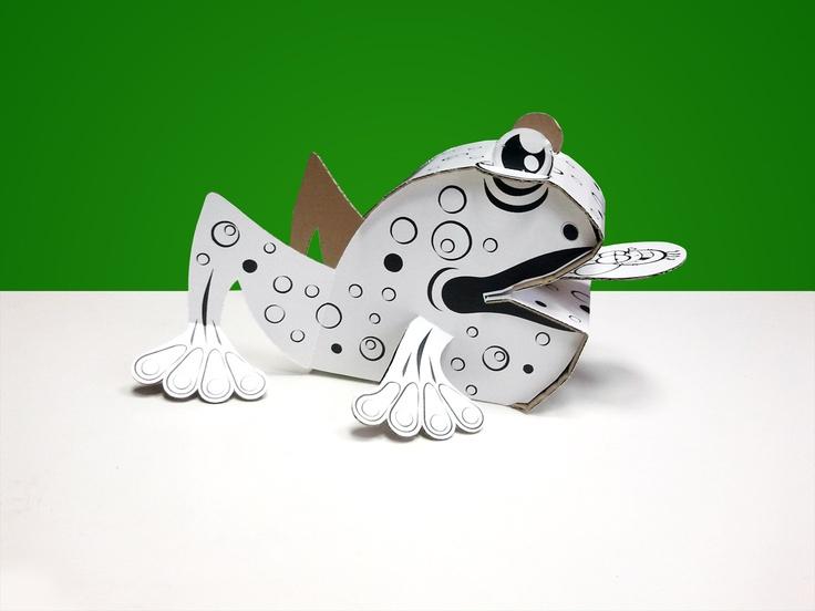 Frog - www.kolorowanki3d.pl