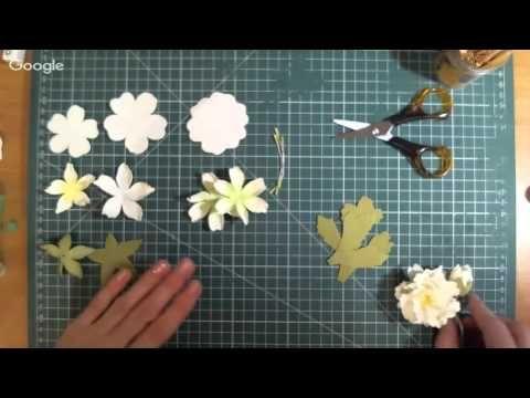 Белые цветы из фоамирана - YouTube