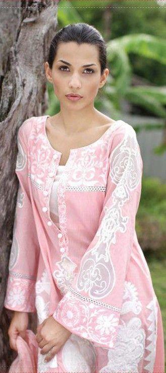 92697: #Pink #SalwarKameez #chikankari #trends2013