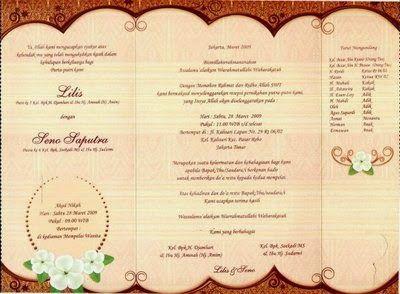 accordingtocaro: contoh undangan pernikahan