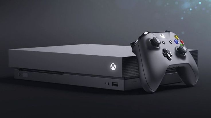 The new, super powerful console is shown off ahead of the E3 games show in Los Angeles.