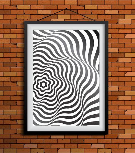 How to create artwork in Op Art style using Illustrator - from Vectips