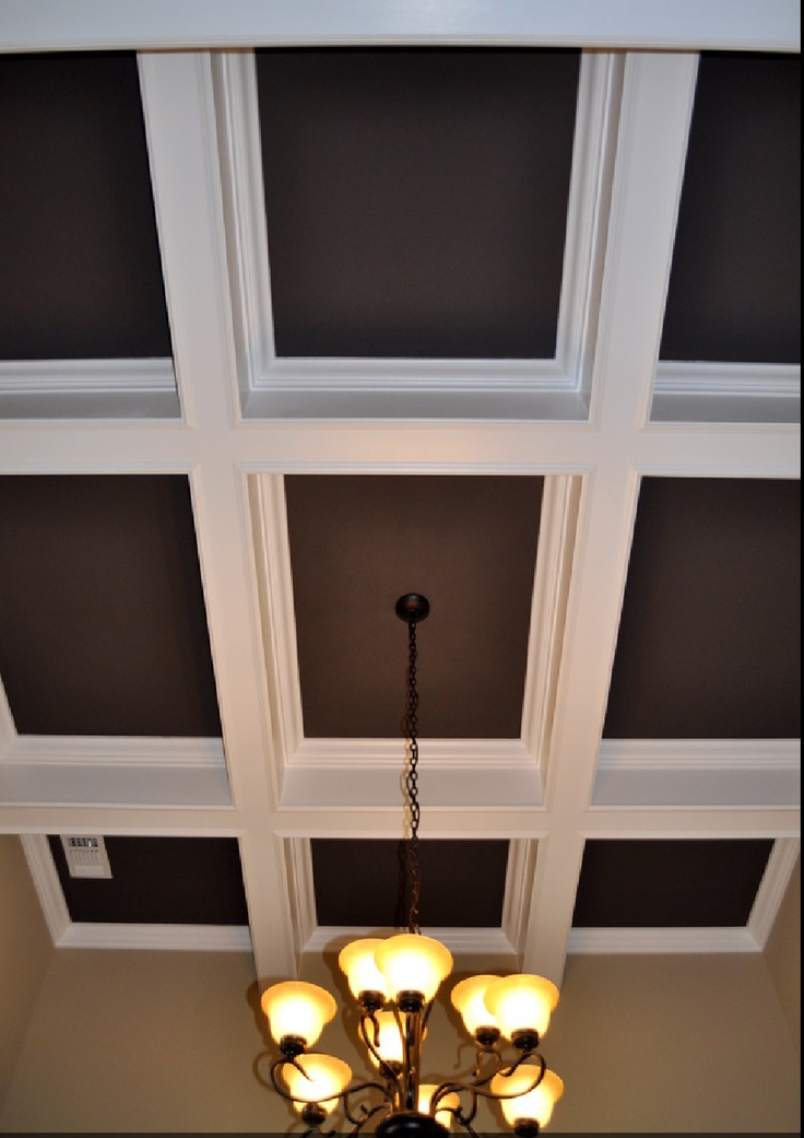 17 best images about coffered ceiling on pinterest paint for Dining room ceiling paint ideas