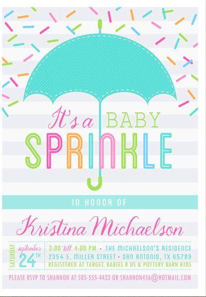 Baby Sprinkle Invitation Wording 6