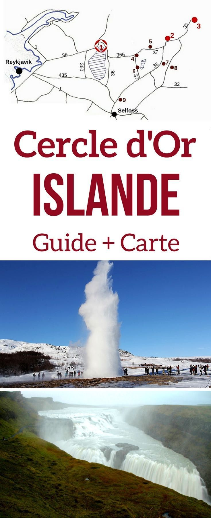 Islande voyage - Visitez le cercle d'or Islande avec ses plus beaux sites: Thingvellir, Gullfoss, Geysir... retrouvez dans l'article une carte détaillée et des conseils pratiques pour planifier votre road trip | Islande paysages | Islande itinéraire | Que faire en Islande