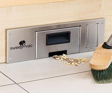 Make light work of a boring chore and get this awesome kitchen cabinet vacuum! Build it in to the bottom of of your chosen cabinet and simply sweep the dust and dirt towards it. Features strong suction and looks sleek.