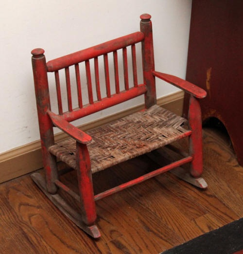 Miniature Red Rocking Chair ~ Best antique vintage child s chair images on pinterest