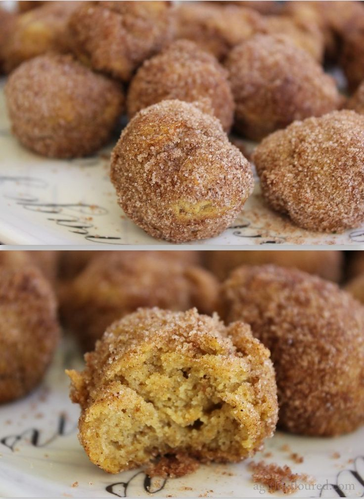 Gluten Free - Pumpkin Spice Doughnut Holes -- so great for people who are allergic to everything (like me). Her blog is ALL gluten free stuff!