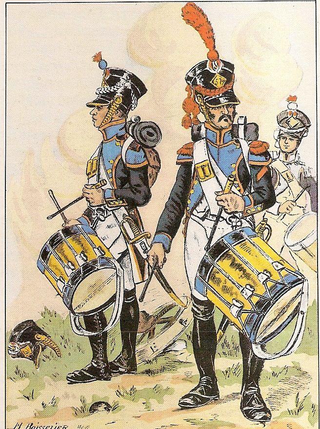 French; 57th Line Infantry, Fusilier Drummer & Grenadier Drummer, 1809
