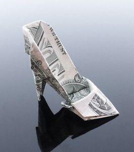 money Origami shoe