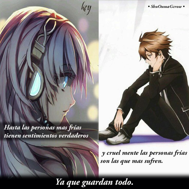 Todos sufrimos . #ShuOumaGcrow #key #Anime #Frases_anime #frases