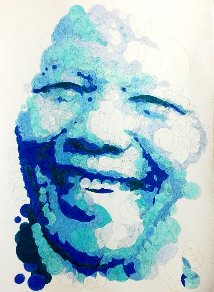 Nelson Mandela in colour by numbers. Am loving #querkles by Thomas Pavitte #colouringin #colourbynumbers