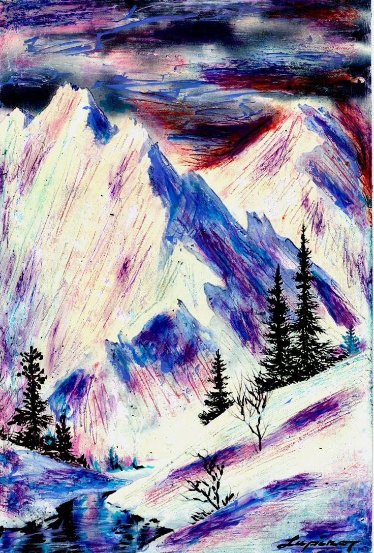 Marian Lupu LUPINO -mixt painting