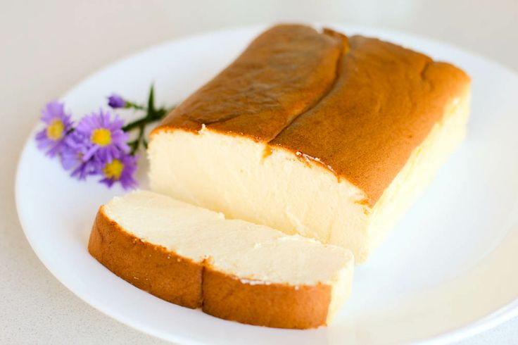 Japanese Cheesecake - A light springy cake with no flour.  Looks like a pound cake, but tastes like a cheesecake.  Oh my!
