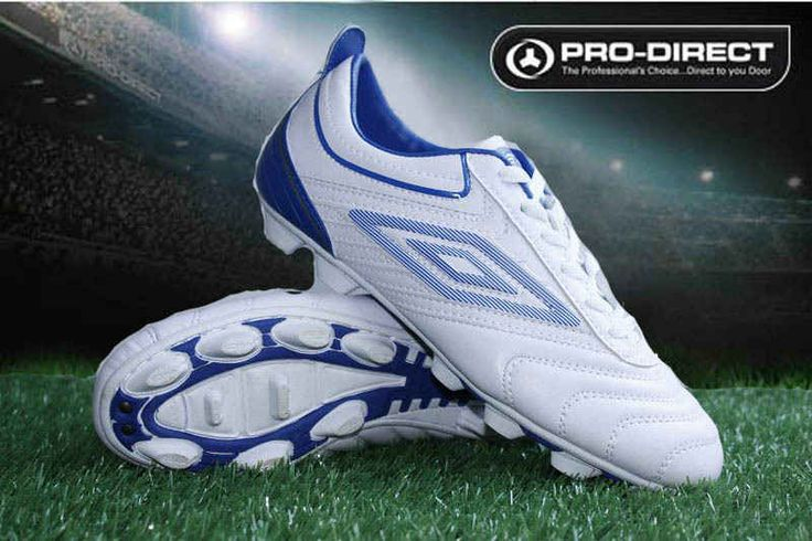 Umbro Cup AG Football Boots White Blue