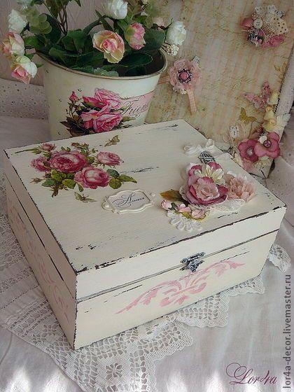 Roses Decoupage Box