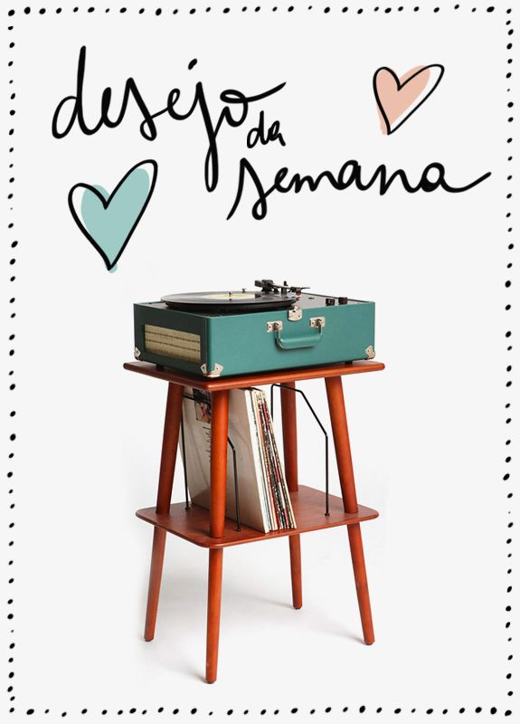 Desejo da Semana: Tocador de Vinil: Urbanoutfitters, Media Stands, Record Players, Side Table, Urban Outfitters, Manchester Media, Living Room, Medium