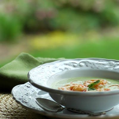 ... Time in the Kitchen: Cucumber-Avocado Soup with Spicy Shrimp and Sauce