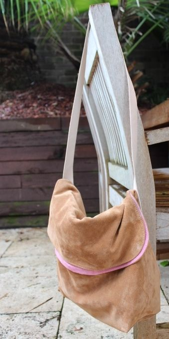 Butter soft Tan suede with pink suede lining