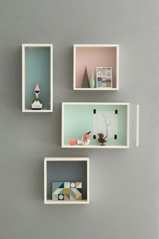 It your going to have a neutral wall then pops of color in shadow boxes will brighten up the room