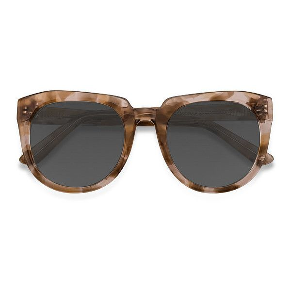 Women's Laohu - Brown Floral square - 18971 Rx Sunglasses ($55) ❤ liked on Polyvore featuring accessories, eyewear, sunglasses, square sunglasses, oversized sunglasses, oversized glasses, oversized retro sunglasses and brown glasses