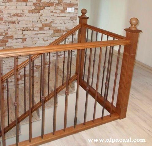 Las 25 mejores ideas sobre pasamanos de la escalera de - Pasamanos de madera modernos ...