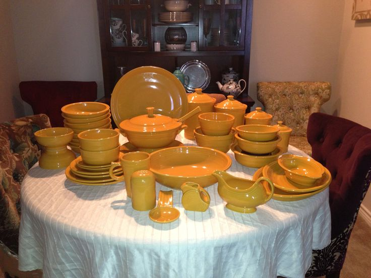 85 best Fiesta® / Homer Laughlin China: Shades of Yellow images on ...