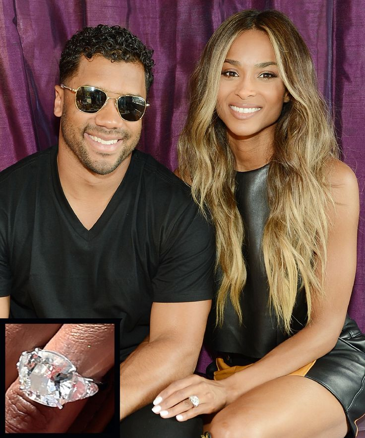 The Most Breathtaking Celebrity Engagement Rings Ever - Ciara and Russell Wilson from InStyle.com