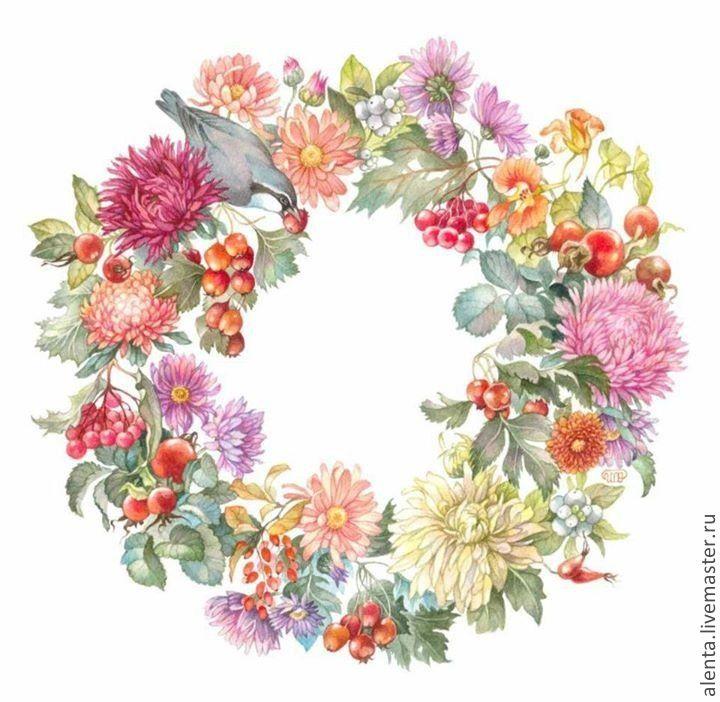 венок из цветов рисунок - Google'da Ara